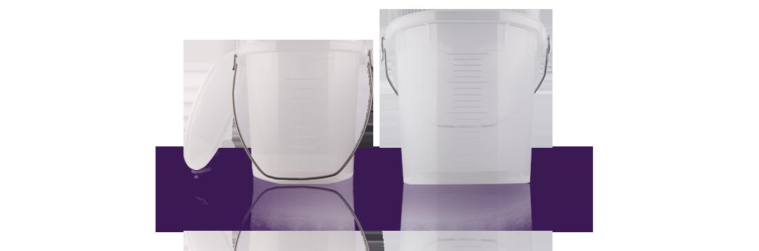 plastic measuring buckets