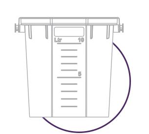 line art of a 10 litre bucket