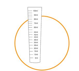 line art of a measuring cylinder