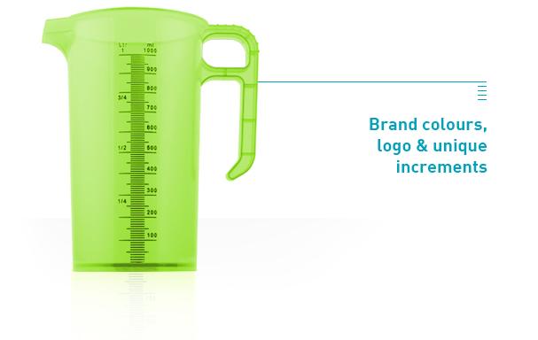 green jug, text saying Brand colours, logo & unique increments