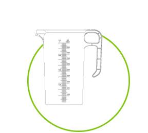 measuring jug lineart